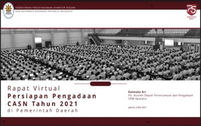 PPT RAPAT VIRTUAL PERSIAPAN PENGADAAN CASN TAHUN 2021